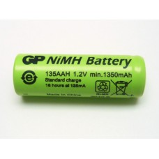 GP135AAH GP BATTERY 4/5AA CELL NIMH FLAT TOP 1350MAH