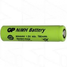 GP80AAAH GP BATTERY AAA CELL NIMH 780MAH FLAT TOP